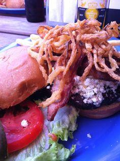 Burger at Wipeout Bar & Grill