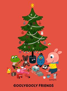 굴리굴리 프렌즈 / 크리스마스 GOOYLGOOLY FRIENDS  www.goolygooly.com