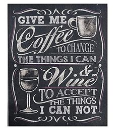 Gift Craft Give Me Coffee Wall Sign Chalkboard *** You can get more details by clicking on the image.