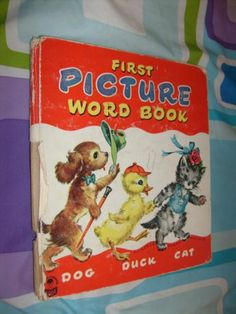 First Picture Word Book by Florence Sarah Winship 1950 HC Good Ships Free | eBay