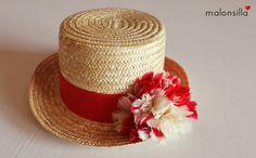Malonsilla Artesanía - Chistera Llanes - Invitada boda - Look rojo - Sombrero boda