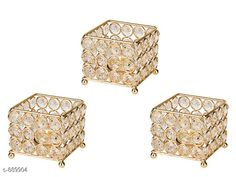 Candles & candle holders Useful Studded Candle Stand Material: Crystal And Iron Size: (L X W X D) - 2.75 cm X 3 cm X 2.75 cm  Description: It Has 3 Piece Of Studded Candle Stand Country of Origin: India Sizes Available: Free Size *Proof of Safe Delivery! Click to know on Safety Standards of Delivery Partners- https://ltl.sh/y_nZrAV3  Catalog Rating: ★4.3 (1055)  Catalog Name: Attractive Home Utilities Vol 4 CatalogID_103951 C127-SC1612 Code: 073-889904-