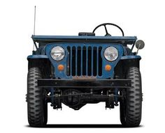 Jeep CJ-2A in Normandy Blue.
