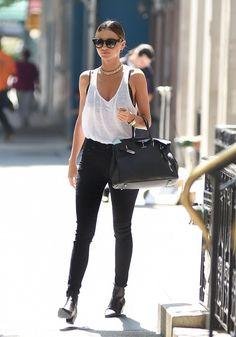"celebstarlets: ""7/7/14 - Miranda Kerr leaving her apartment in NYC. "" http://girlsinspo.com/"