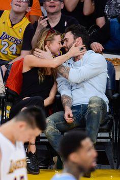 BEHATI PRINSLOO AND ADAM LEVINE | Denver Nuggets vs. Los Angeles Lakers, 2014