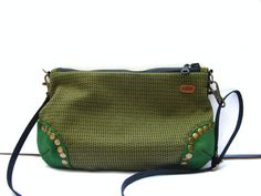 Autumn Fall Olive Green Cross Body / Shoulder Bag with by askidas, $40.00