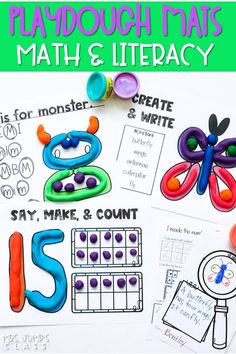Students will love practicing their letters, identifying beginning sounds, and working on numbers up to 30. These hands-on playdough learning activities are great for centers, morning work, or early finishers. #playdoughlearningactivities #handsonlearning #playdough