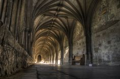 Norwich Cathedral - the oldest and best preserved open air cloisters in England - cloisters 12th century #Gothic
