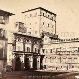 Foto storiche di Roma - Basilica di Santa Maria Maggiore da via delle Quattro Fontane Anno: 1860 ca.