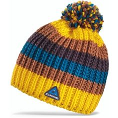 ffafde7d2a268 The colorful DAKINE Gordon hat is handknit with soft acrylic yarn for great  comfort on cold days.