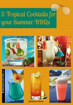 5 Tropical Drink recipes for your next backyard party!