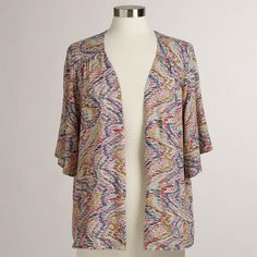 One of my favorite discoveries at WorldMarket.com: Wavy Print Short Sleeve Zoe Jacket Shirt