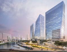 Sasaki vence concurso para remodelar Suzhou Creek em Xangai, Cortesia de Sasaki Associates