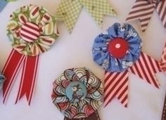 Handmade ribbon awards