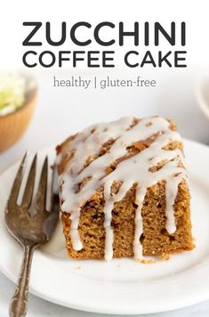 This healthy and gluten-free Zucchini Coffee Cake is perfect for breakfast or brunch! This homemade recipe is made with wholesome ingredients, is easy to put together and tastes amazing! Made with a blend of quinoa, almond and coconut flours and dairy-free yogurt for the BEST moist texture ever. Healthy Desserts, Healthy Foods, Healthy Eating, Healthy Recipes, Dairy Free Yogurt, Vegan Meal Plans, Homemade Recipe, Coffee Cake, Gluten Free Recipes