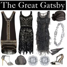 Gatsby 20s fashion inspiration - taking elements of fringing and sparkle