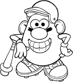 Free printable mr potato head coloring pages for kids. Color this online pictures and sheets and color a book of mr potato head images. Grinch Coloring Pages, Sports Coloring Pages, Coloring Pages For Teenagers, Dinosaur Coloring Pages, Alphabet Coloring Pages, Disney Coloring Pages, Animal Coloring Pages, Coloring Pages To Print, Adult Coloring Pages