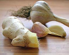 ŻYCIE OD KUCHNI: sposoby na grypę - część 1 Garlic, Vegetables, Vegetable Recipes, Veggies