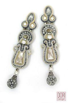 long earrings : Calista Pearl & Crystal Earrings