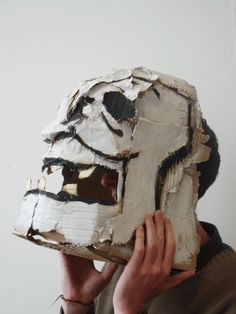 Cardboard Head Sculptures -by David Whelan via Behance