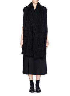 THE ROW'Arrington' cashmere-silk knit vest with hood