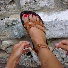 f5a77ff6cc9 Ankle Strap Block Heel Buckle Plain Cross Strap Sandals