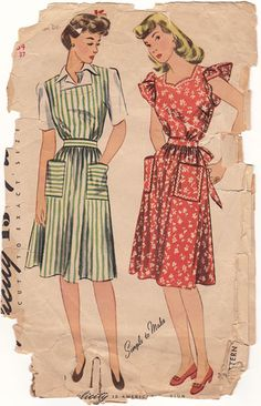 Mothers wore aprons! ♥