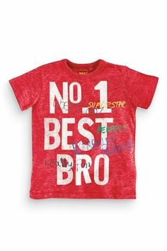 Buy Red Best Brother T-Shirt (3mths-6yrs) from the Next UK online shop