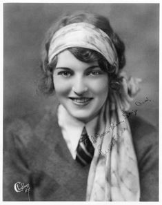 Ruth Elder (1902-1977) - Silent Film Actress and Aviator.