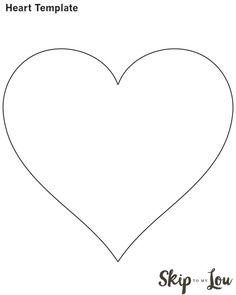 Molde De Corazón Para Imprimir Gratis De Todo Pinterest Heart