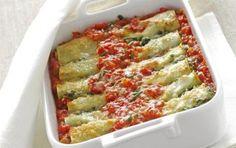 Κανελόνια με σπανάκι και τυρί