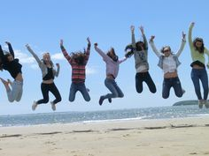Having a good time at the beach #LearnEnglish #workplacement #culturalevening #summerlanguageschool #ireland