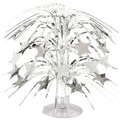 Check out Silver Foil Mini Cascade Centerpiece - Centerpieces Party Supplies from Birthday In A Box Sweet 16 Party Decorations, Christmas Decorations, Reunion Decorations, Graduation Decorations, Party Stores, Party Shop, Star Centerpieces, Tall Centerpiece, Sparkle Party