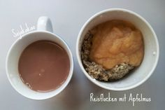 Salka hat ein neues Lieblingsfrühstück: Reisflocken mit Apfelmus, Mohn und Marzipan, sieht unfassbar lecker aus