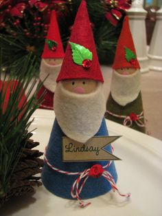 Gnome Ornaments--Etsy--no longer available, inspiration only