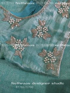In this video you can see 20 aari work blouse, especially for bride. Cut work embroidery design, complete bead work designs and two st. Cutwork Blouse Designs, Wedding Saree Blouse Designs, Simple Blouse Designs, Stylish Blouse Design, Blouse Neck Designs, Aari Embroidery, Bead Embroidery Patterns, Traditional Blouse Designs, Hand Work Blouse Design