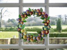 Simple floral Easter Wreath with Command Brand