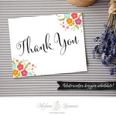 Printable Thank you sign wedding sign floral by MadameLevasseur