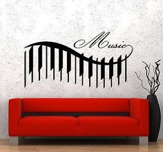 Wall Vinyl Music Piano Beautiful Songs Guaranteed Quality Decal (z3546)