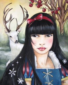 Snow White and the White Deer ~ Claudia Tremblay