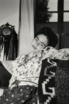 Frida Kahlo, 1951. Photo from a new book, Frida Kahlo: The Gisèle Freund Photographs, containing more than 100 of Freund's rare images of Frida and Diego