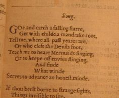 Song by John Donne. Always makes me think of Howl's Moving Castle