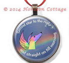 Greyhound With Wings Rainbow Bridge Ornament by HorizonCottage