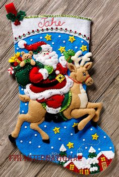 This complete kit includes This is just one of several new Christmas Felt kits being released for Fall The only way to get a kit in newer condition is to pick it up in person from the factory. Stocking Stand, Felt Stocking Kit, Christmas Stocking Kits, Felt Christmas Stockings, Christmas Gifts For Women, Christmas Crafts, Christmas Ornaments, Christmas Presents, Merry Christmas