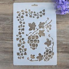 Grape Stencil Craft stencil Scrapbooking stencil Painting stencil Wall stencil Flower Stencil DIY Decor Stencil - (155-A)