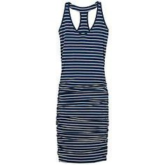 Striped Tee Racerback Dress - The soft racerback tee dress with a deep V-neck and shirred sides that hug you in the best way possible.
