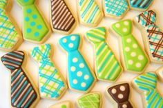 Neck tie cookies ( Bow ties also available). $40.00, via Etsy.