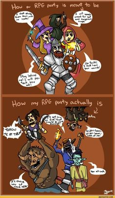 RPG humor http://img1.joyreactor.com/pics/post/auto-games-rpg-rpg-party-202421.jpeg