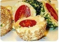 Snack with cheese and tomatoes