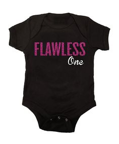 Flawless One Pink Glitter Bodysuit  #flawless #baby #beyonce #iwokeuplikethis #1stbirthday #valentinesday #love #cupid